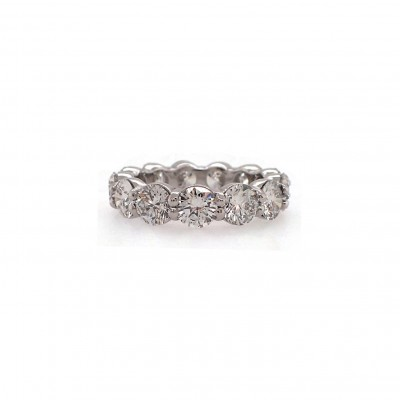Half Carat Each Wedding Band